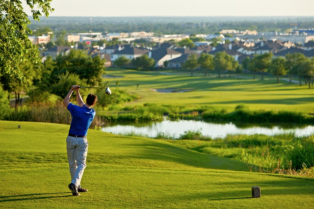 The award-winning Teravista golf course winds throughout the community.